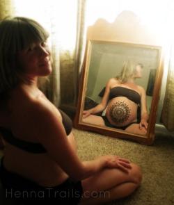 prenatal henna mandala
