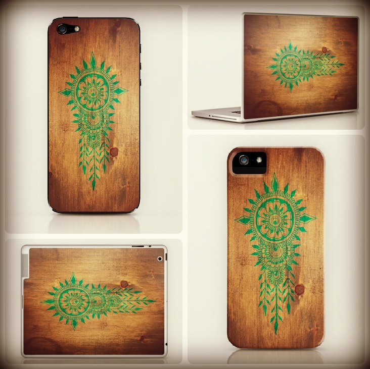 earthy mandala folk art for devices