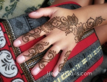 $15.00 artist's choice henna design inspired by Indian mehndi party designs for guests. No two designs are alike.