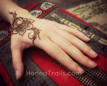 Arabic styled modern henna pattern from my henna sketchbooks