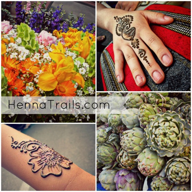 You can find me on Broadway between 3rd and 4th street in Chico, California April-September 6-9pm for natural henna, exclusively local produce, handcrafted food, wares, jewelry, and food trucks